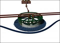Una representación digital de un modulador óptico que puede ser fabricado utilizando el procesamiento estándar de la industria para la fabricación de microprocesadores electrónicos actuales de ultima generación. Cortesía de Milos Popovic