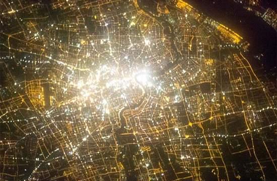 contaminación lumínica- China-Guangzhou