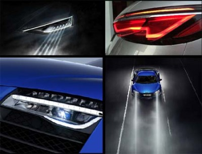 Iluminación-iluminación automotriz-láser- LED- BMW-Audi- OLED-