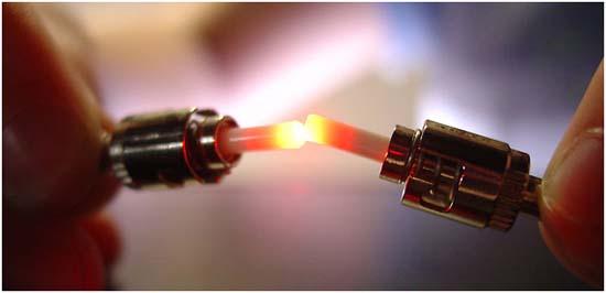 fibra óptica- luz