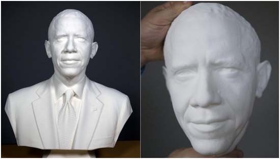 Busto Presidente Barak Obama-LED