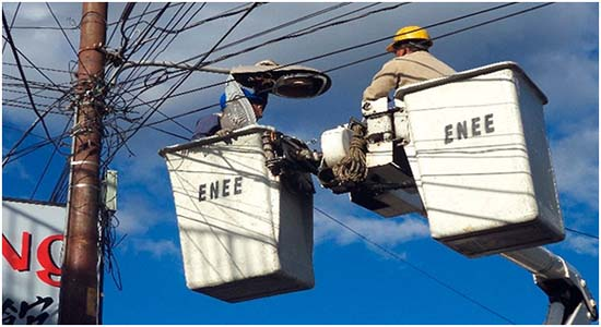 ENEE- alumbrado público- Honduras-Tegucigalpa