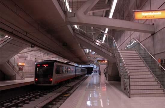 Consorcio de Transportes de Bizkaia, metro, iluminación, LED, luz, fluorescente,
