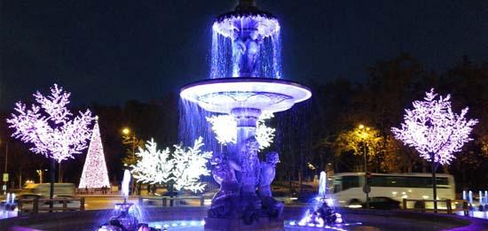 Fuentes- Neptuno, Atocha y Cibeles- iluminación- Ignialight-