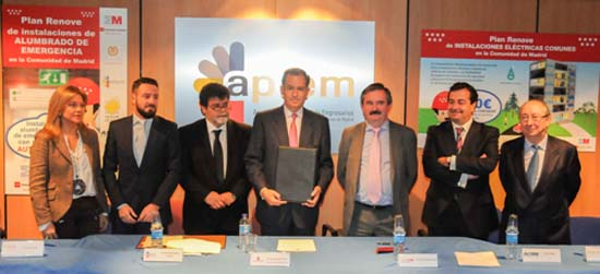 Iluminación de Emergencia- Madrid, Planes Renove- APIEM- Enrique Ossorio
