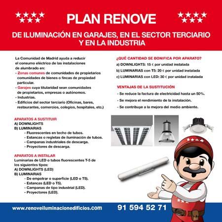 Plan renove de iluminación- Comunidad de Madrid- renove- iluminación