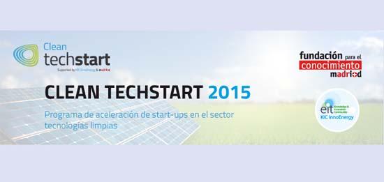 CleanTechStart- Comunidad de Madrid- tecnologías limpias- Fundación madri+d- KIC InnoEnergy- startups-