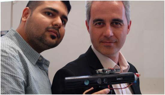 Kinect- láser- Parkinson- sensor