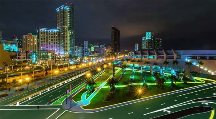 carretera solar- LED- Solar Roadways-IndieGogo- carretera solar LED