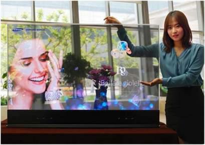 Pantallas- OLED- Samsung- displays- panel- RealSense- retail