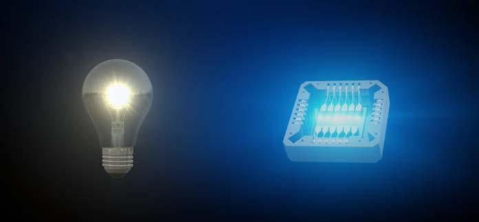 Luz- grafeno- luz visible- bombilla- chip-