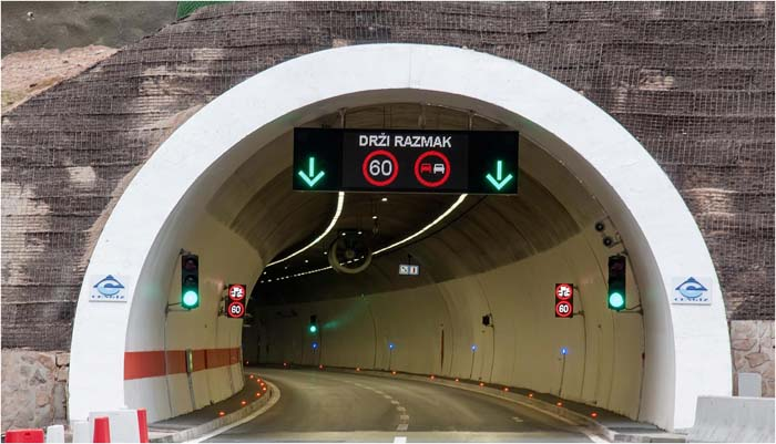 alumbrado de túneles- iluminación- túneles- LED- Schréder- luminarias