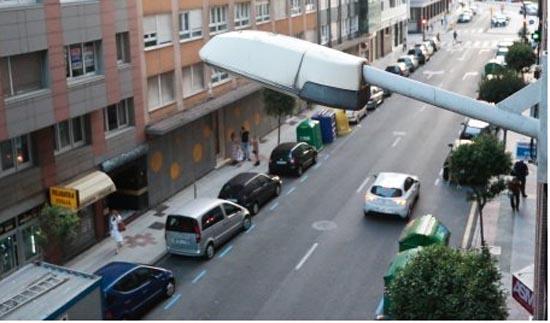alumbrado publico, eficiencia energética, Alumbrado- Gijón—licitación- La Arena- LED- luz- luminarias- farolas