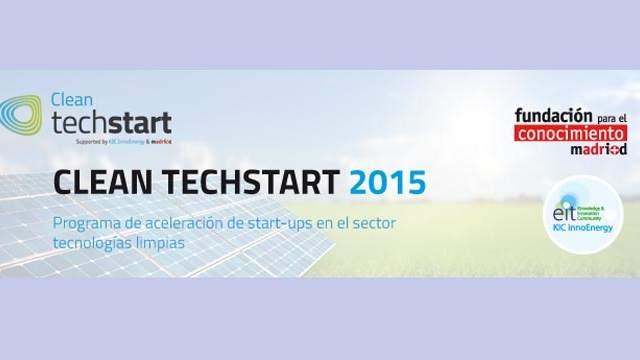 CleanTechstart- proyectos- startups- madri+d- base científico-tecnológica- energías limpias-inversión