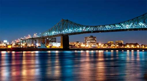 Montreal- aniversario- iluminación- puente Jacques-Cartier- iluminación interactiva