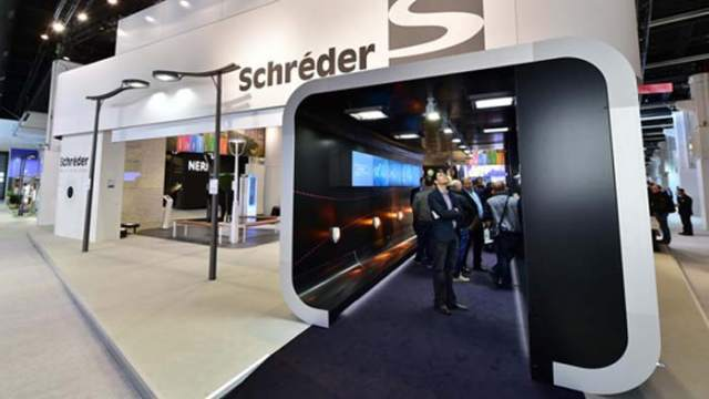 Stand de Schreder Light+Building 2014
