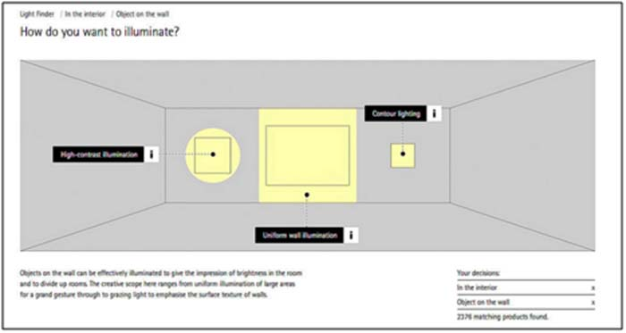 diseño de la iluminación- ERCO-Light Finder