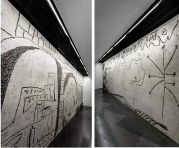 FLUVIA- frisos- Picasso- Col·legi d'Arquitectes de Catalunya- COAC- ilumina-LED