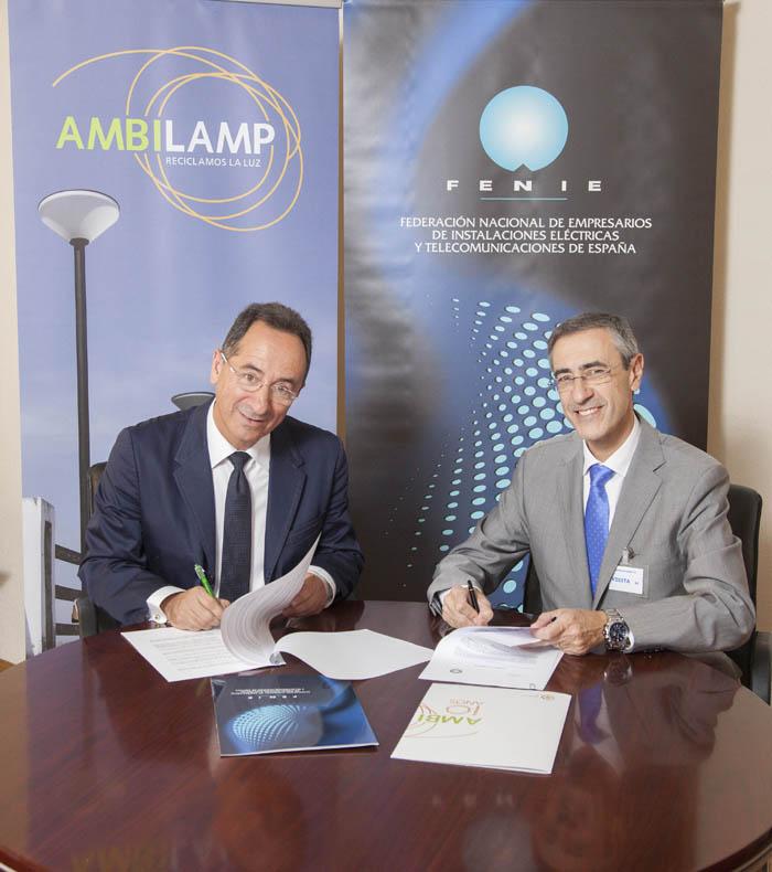 Ambilamp- FENIE- instaladores eléctricos- reciclaje- reciclado- iluminación- reciclaje de lámparas y luminarias