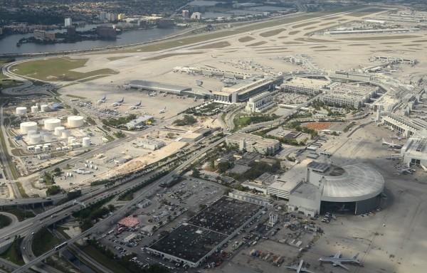 Vista del aeropuerto de Miami