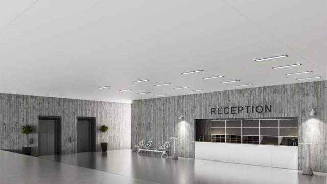 ROCKFON- paneles para techos- índice de reflexión lumínica- ROCKWOOL