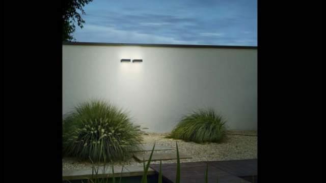 Iluminaci n exterior con bega by lled Apliques iluminacion exterior pared