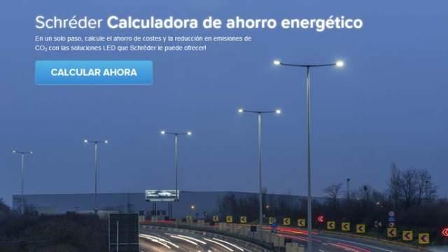 Calculadora responsable- Schréder- ahorro-iluminación
