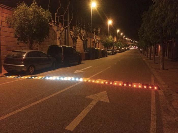 Bandas Reductoras de Velocidad-ECOBAM- reductores de velocidad- LED- vehículos-peatones- Smart city