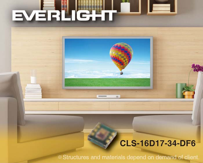 EVERLIGHT - sensor de color - pantallas - display - sensor de color RGB - RGB – CCT - Lux