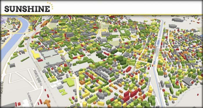 plataforma digital - plataforma online - SUNCHINE - eficiencia energética - urbana - edificios - ecomapas - alumbrado público