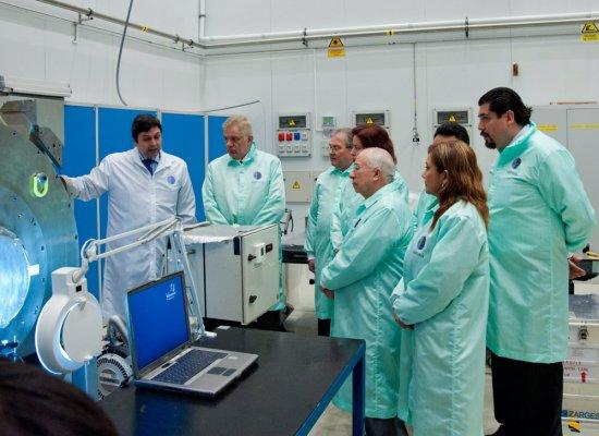 Fotode la delegación de la UANL a la sede central del IAC en La Laguna (Tenerife). Créditos: M. Briganti, IAC.