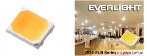Everlight Electronics – LED - 2835 LED – Shwo - F-ELB - dispositivo