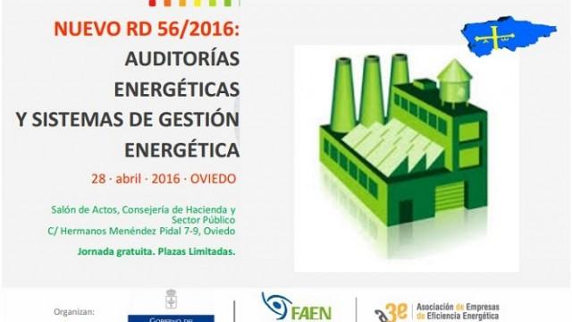 Nuevo RD 56/2016 – eficiencia energética – Oviedo – Asturias – ASECOR - FAEN