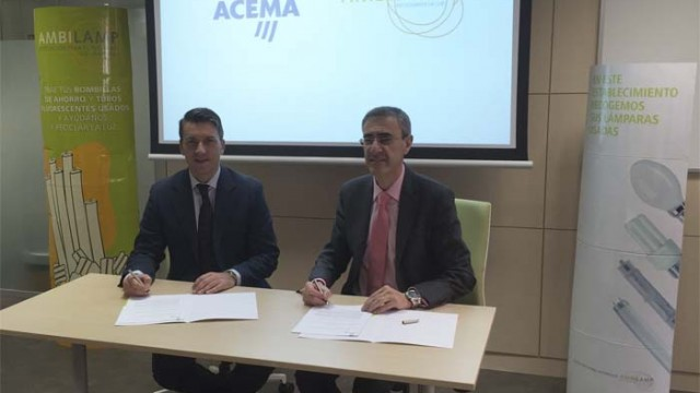 AMBILAMP - acuerdo - ACEMA - reciclaje - lámparas y luminarias -reciclaje de lámparas y luminarias