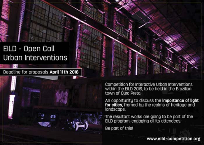 Encuentro - Ibero-americano - Lighting Design - inscripciones - Ouro Preto - Lighting designers -iluminación
