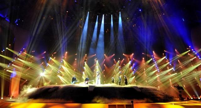 Eurovisión – Osram - Clay Paky – luminarias – Sharpy - Mythos