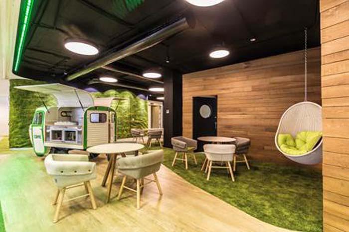 El espacio de oficina de cbre en casa decor ocio y color for Oficinas de iberdrola en madrid