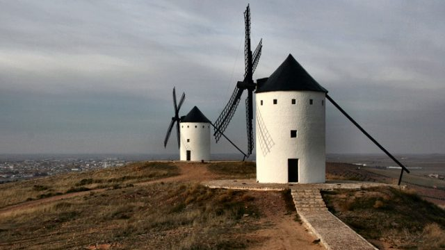 Castilla La Mancha - molinos de Alcázar- 'País del Quijote' – monumentos - iluminación