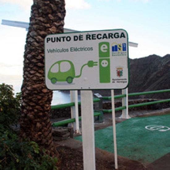 Gomera - Hermigua - cargador elérctrico - alumbrado público