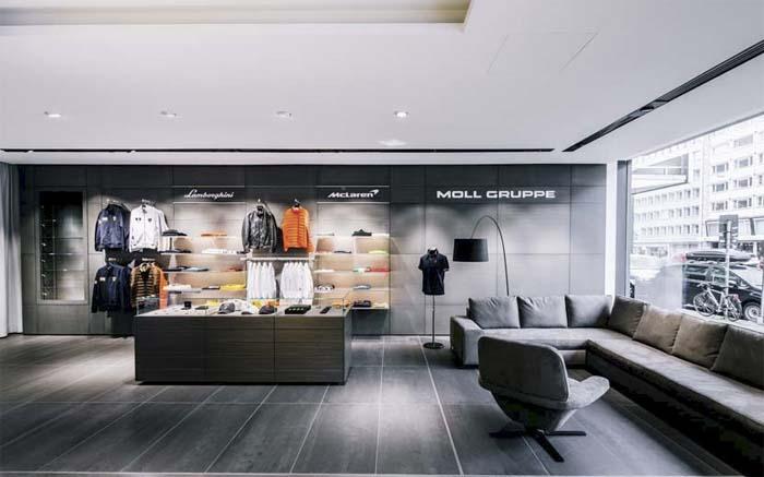 Iluminación - Ansorg -Moll Showroom- Düsseldorf - LED- luminarias -luz - luminoso