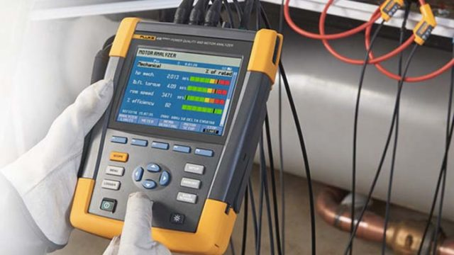 analizador de motores - calidad eléctrica - Fluke 438-II - rendimiento eléctrico - motores eléctricos