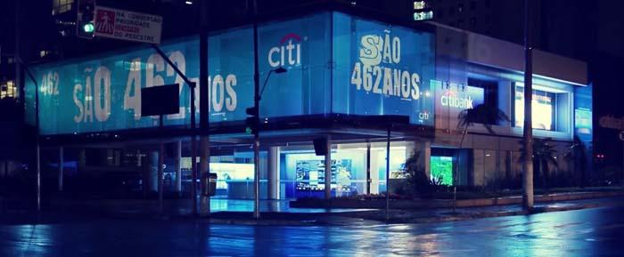 Founders - Christie - Citibank - São Paulo - mapping retroproyectado - Latinoamérica - láser - proyectores