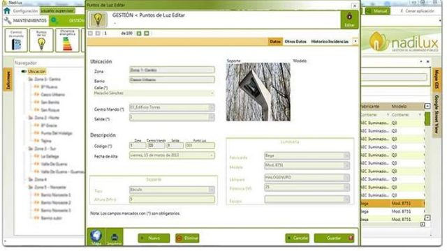 NADILUX - Afeinsa -alumbrado público - iluminación - gestión