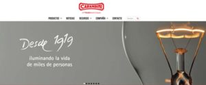 C & G. Carandini - web corporativa - iluminación - alumbrado - luminarias