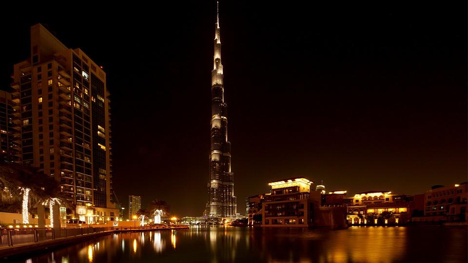 Burj Khalifa, dubai, pantalla LED