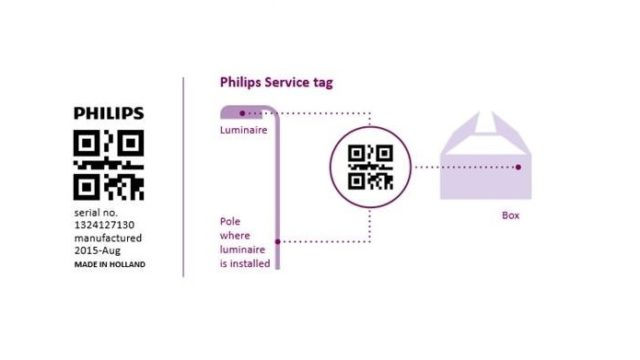 Philips Lighting, Service Tag, alumbrado público