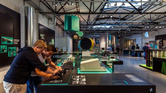 erco, museo alemán tecnología, LED, iluminación