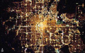 ciudades, alumbrado público, iluminación, LED