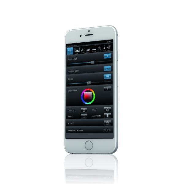 Control mediante Smart Visu Home en smartphone