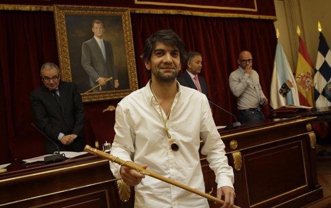 Jorge Suarez en el pleno de su investidura como Alcalde de El Ferrol en el 2015